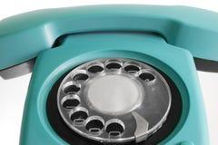 blå gammal telefon Royaltyfri Fotografi