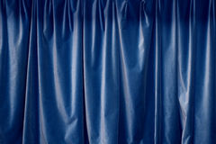 blå gardin royaltyfri fotografi