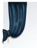 blå gardin royaltyfri illustrationer