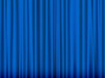 blå gardin Arkivbild