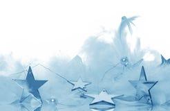 blå garnering arkivbilder