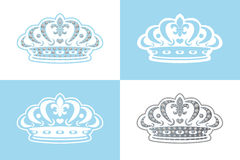 blå garneringtiara stock illustrationer