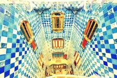 blå gaudi Royaltyfri Foto
