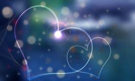 blå gemhjärta för bakgrund mig två som white Vektor Illustrationer