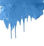 blå genomblöt målarfärg thick Arkivbild