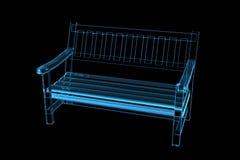 blå genomskinlig röntgenstråle för bänk 3d Arkivbilder