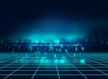 Blå geometrisk bakgrund för formabstrakt begreppteknologi vektor illustrationer