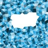blå geometrisk mall Arkivbilder