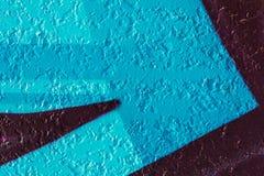 blå geometrisk modell royaltyfri bild