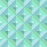 Blå geometrisk modell Arkivbilder