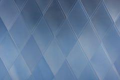 blå geometrisk modell för abstrakt arkitektur Arkivbild