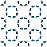 Blå geometrisk vattenfärg seamless modell Yttersidaprydnad fotografering för bildbyråer