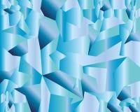 Blå geometrisk vektorbakgrund för vatten vektor illustrationer