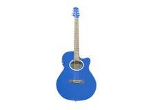 blå gitarr royaltyfria foton