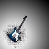 Blå gitarr Royaltyfri Foto