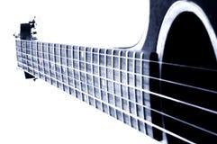 blå gitarr Arkivfoto