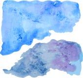 blå gjord självvattenfärg för abstrakt bakgrund Arkivfoton