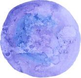 blå gjord självvattenfärg för abstrakt bakgrund Royaltyfria Bilder