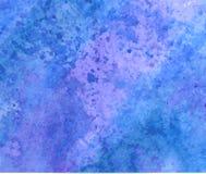 blå gjord självvattenfärg för abstrakt bakgrund Arkivfoto