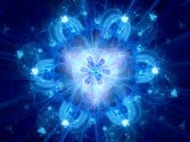 Blå glödande magisk andlig bakgrund stock illustrationer