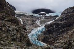 blå glaciär Arkivfoto