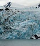 Blå glaciärframsida Royaltyfri Fotografi