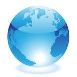 blå glansig värld Arkivbilder