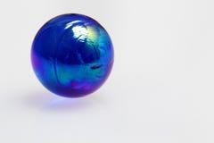 Blå glass boll Royaltyfri Fotografi