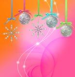 Blå glass julboll Arkivbild