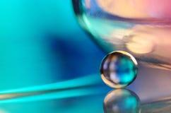 blå glass marmor Arkivbilder