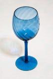Blå glass stemware Royaltyfri Bild