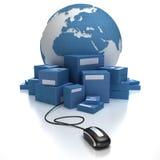 blå global transport Arkivfoton