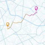 Blå GPS navigatördesign royaltyfri illustrationer