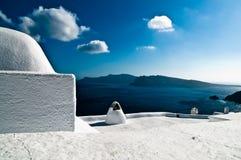 blå greece white Royaltyfri Bild
