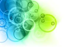 blå green royaltyfri illustrationer