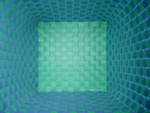 blå green för korg royaltyfri fotografi