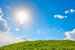 blå greensky för fält 3d Royaltyfri Fotografi
