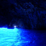 Blå grotta, Capri, Italien Royaltyfria Foton