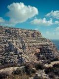 Blå grotta i Malta Arkivfoto