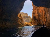 Blå grotta Italien Royaltyfri Fotografi