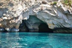 Blå grotta, Malta Arkivbilder