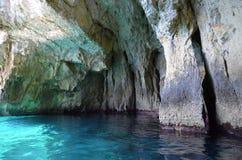 Blå grotta, Malta Royaltyfri Bild