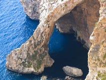 blå grotto malta Royaltyfri Foto