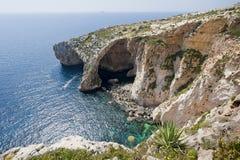 Blå Grotto Malta Royaltyfri Fotografi