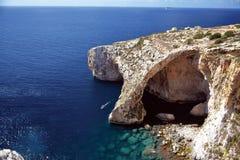 blå grotto malta Royaltyfria Bilder