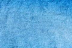 Blå grov bomullstvilljean - textilbakgrund Royaltyfri Fotografi
