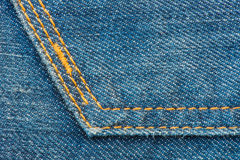 Blå grov bomullstvillJean Texture bakgrund Royaltyfria Foton