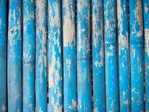 Blå grunge målad wood bakgrund Royaltyfria Bilder