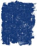 blå grungefyrkant Arkivbilder