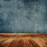blå grungelokal Arkivbilder